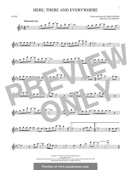 Here, There and Everywhere (The Beatles): For flute by John Lennon, Paul McCartney