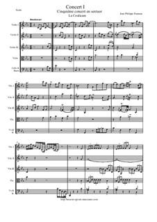 6 Concerts Transcrits en Sextuor: Concert en sextuor No.1 - score, parts by Jean-Philippe Rameau