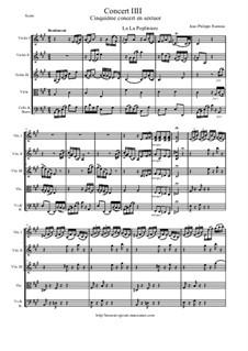 6 Concerts Transcrits en Sextuor: Concert en sextuor No.3 - score, parts by Jean-Philippe Rameau