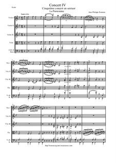 6 Concerts Transcrits en Sextuor: Concert en sextuor No.4 - score, parts by Jean-Philippe Rameau