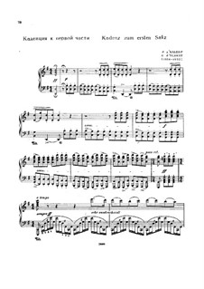 Cadenzas: To movements I, III by E. d'Albert by Ludwig van Beethoven