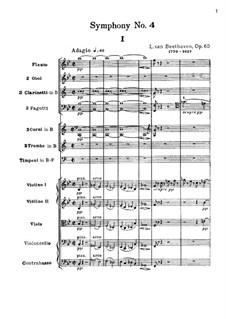 Symphony No.4, Op.60: Movement I by Ludwig van Beethoven