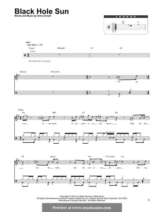 Black Hole Sun (Soundgarden): Drum set by Chris Cornell