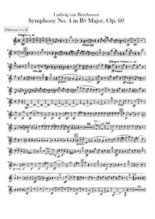 Symphony No.4, Op.60: Clarinets parts by Ludwig van Beethoven
