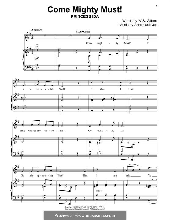 Come Mighty Must!: For piano by Arthur Seymour Sullivan