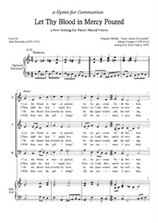 Let Thy Blood in Mercy Poured - SAB hymn: Let Thy Blood in Mercy Poured - SAB hymn by Johann Crüger