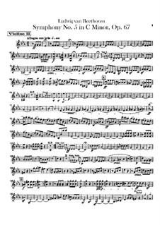Complete Symphony: Violins II part by Ludwig van Beethoven