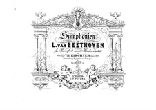Complete Symphony: Version for two pianos eight hands – piano I part by Ludwig van Beethoven