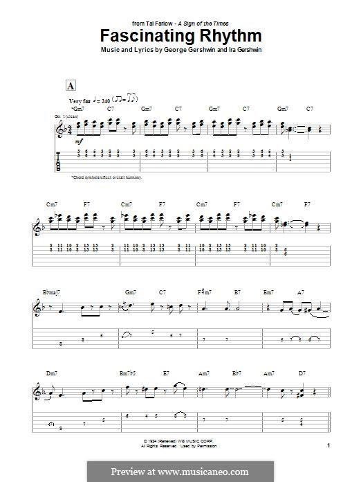 Fascinating Rhythm: For guitar with tab (Tal Farlow) by George Gershwin