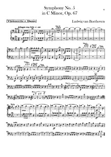 Complete Symphony: Cello and double bass part by Ludwig van Beethoven