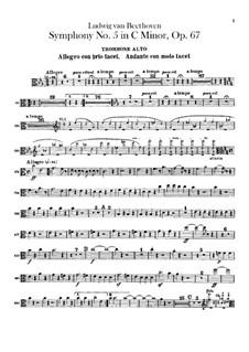 Complete Symphony: Trombones parts by Ludwig van Beethoven