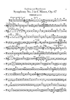 Complete Symphony: Timpani part by Ludwig van Beethoven