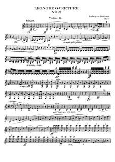 Leonore. Overture No.2 in C Major, Op.72a: Violins II part by Ludwig van Beethoven