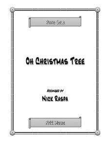 O Christmas Tree, for Piano: For a single performer by folklore