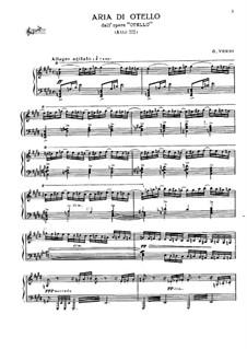 Otello: Aria di Otello by Giuseppe Verdi