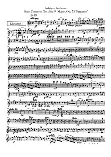 Complete Concerto: Clarinets parts by Ludwig van Beethoven