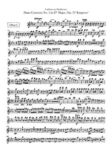 Complete Concerto: Oboes parts by Ludwig van Beethoven