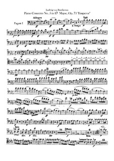 Complete Concerto: Bassoons parts by Ludwig van Beethoven