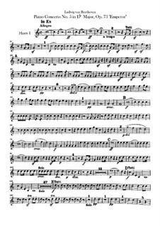Complete Concerto: Horns parts by Ludwig van Beethoven