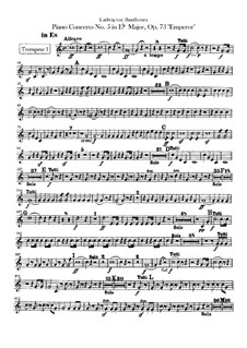 Complete Concerto: Trumpets parts by Ludwig van Beethoven