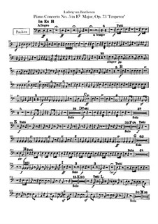 Complete Concerto: Timpani part by Ludwig van Beethoven