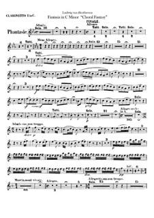 Fantasia in C Minor, Op.80: Clarinets parts by Ludwig van Beethoven