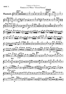 Fantasia in C Minor, Op.80: Oboes parts by Ludwig van Beethoven