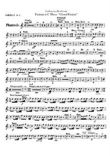Fantasia in C Minor, Op.80: Horns parts by Ludwig van Beethoven