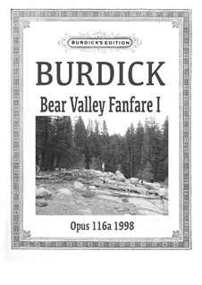 Bear Valley Fanfare I for Trumpet and Horn, Op.116: Bear Valley Fanfare I for Trumpet and Horn by Richard Burdick