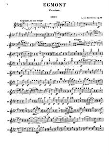 Egmont, Op.84: Oboe I part by Ludwig van Beethoven