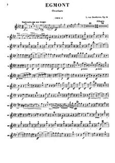 Egmont, Op.84: Oboe II part by Ludwig van Beethoven