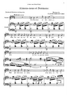 Aimons-nous et Dormons: Aimons-nous et Dormons by Claude Debussy