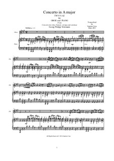 Concerto for Oboe and Strings in A Major, TWV 51:A2: Version for oboe and piano by Georg Philipp Telemann
