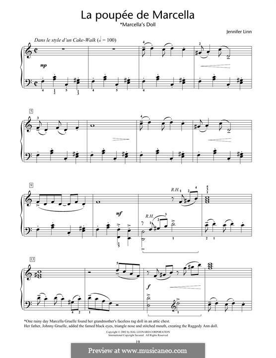La Poupee de Marcella (Marcella's Doll): For piano by Jennifer Linn