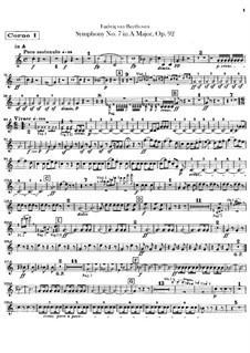 Complete Symphony: Horn parts by Ludwig van Beethoven