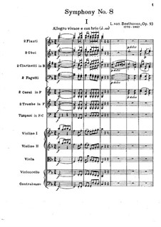 Movement I: Full score by Ludwig van Beethoven