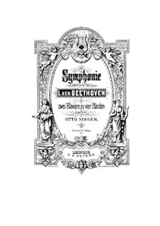 Complete Symphony: Version for two pianos four hands by Ludwig van Beethoven