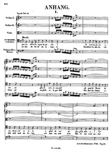 Complete Opera: Appendix by Wolfgang Amadeus Mozart