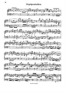 Four Organ Preludes: Four Organ Preludes by Johann Georg Albrechtsberger