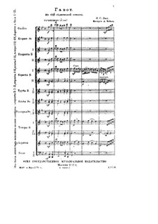 Partita for Violin No.3 in E Major, BWV 1006: Gavotte. Arrangement for orchestra by Johann Sebastian Bach