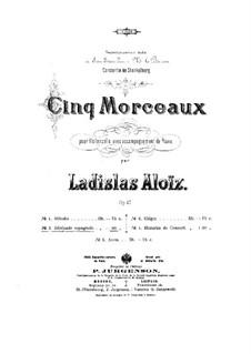 Five Pieces for Cello and Piano, Op.47: No.2 Sérenade Espagnole by Ladislas Aloïz