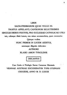 Liber sacratissimarum: Liber sacratissimarum by Blasius Ammon