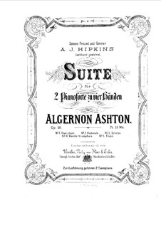 Suite for Two Pianos Four Hands, Op.50: No.1-3 by Algernon Ashton
