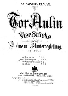 Four Pieces for Violin and Piano, Op.16: No.2 Impromptu by Tor Aulin