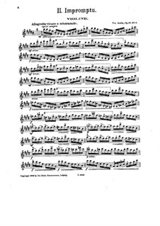 Four Pieces for Violin and Piano, Op.16: No.2 Impromptu – violin part by Tor Aulin