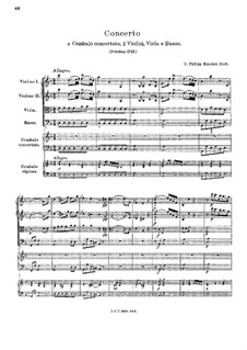 Concerto for Harpsichord and Strings in D Minor, H 427 Wq 23: Concerto for Harpsichord and Strings in D Minor by Carl Philipp Emanuel Bach