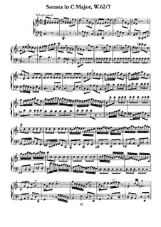 Sonata for Keyboard in C Major, H 41 Wq 62:7: For a single performer by Carl Philipp Emanuel Bach