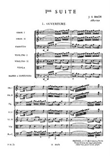 Orchestral Suite No.1 in C Major, BWV 1066: Full score by Johann Sebastian Bach