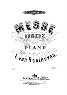 Mass in C Major, Op.86: For piano by Ludwig van Beethoven