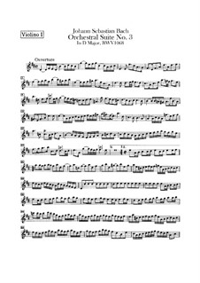 Complete Cycle: Violin I part by Johann Sebastian Bach